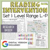 Reading Intervention Program: Set 1-L-P   Distance Learning   Google Classroom