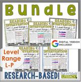 Reading Intervention Program-Bundle for all Sets in L-P Level Range