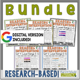 Reading Intervention Program-Bundle for all Sets in E-G Le