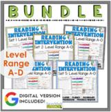 Reading Intervention Program-Bundle for all Sets in A-D Level Range