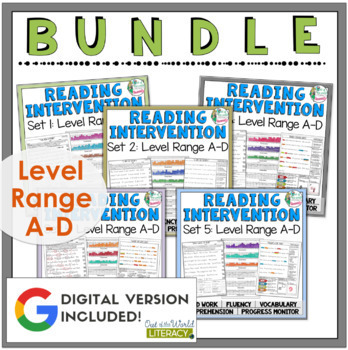 Reading Intervention Program-Bundle for all Sets in A-D Level Range