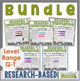 Reading Intervention Program-Bundle for all Sets in Q-T Level Range