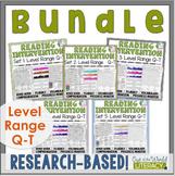 Reading Intervention Program-Bundle Sets Q-T |Distance Lea