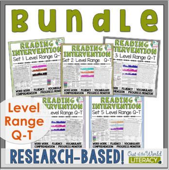 Reading Intervention Program: Level Range Q-T Bundle RESEA