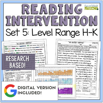 Reading Intervention Program: Set Five Level Range H-K RES