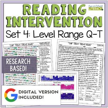 Reading Intervention Program: Set Four Level Range Q-T RES