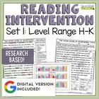 Reading Intervention Program: Set One Level Range H-K RESEARCH BASED