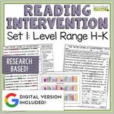 Reading Intervention Program: Set One Level Range H-K RESE