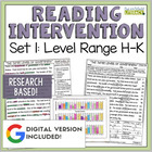 Reading Intervention Program: Set One Level Range H-K RESEARCH BASED