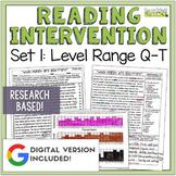 Reading Intervention Program: Set 1-Q-T | Distance Learning | Google Classroom