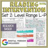 Reading Intervention Program Set 2 Level Range L-P