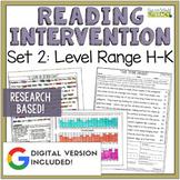 Reading Intervention Program Set 2 Level Range H-K