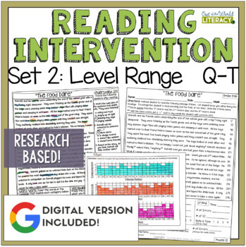 Reading Intervention Program: Set Two Level Range Q-T RESE