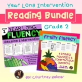 Reading Intervention Second Grade Year Long Bundle (Fluency & Comprehension)