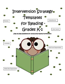 Reading Intervention- Small Group Lesson Templates
