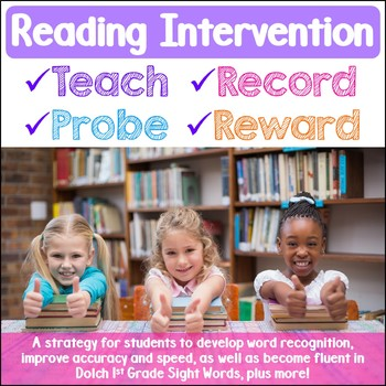 Reading Intervention Strategy Dolch First Grade Sight Words