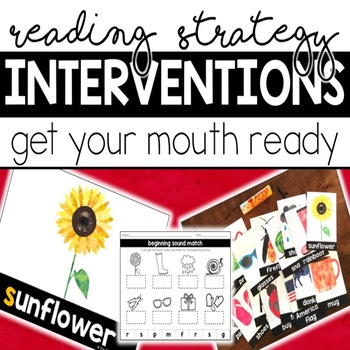 Reading Intervention Task Cards: Get Your Mouth Ready