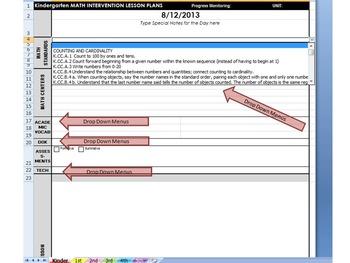 Reading Intervention Teacher Common Core DAILY Lesson Plan - Reading intervention lesson plan template