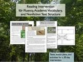 Reading Intervention for Academic Vocabulary, Text Structu