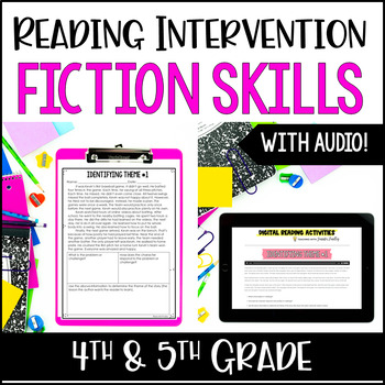 Reading Intervention : Fiction *with Google Classroom™ for Distance Learning