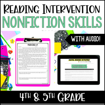 Reading Intervention: NonFiction *with Google Classroom™ for Distance Learning