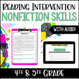 Reading Intervention : NonFiction Digital Reading Intervention Distance Learning