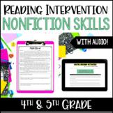 Reading Intervention for Struggling Readers : NonFiction Skills
