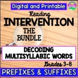 Reading Intervention-Upper Grades-Decoding Multisyllabic Words-Distance Learning