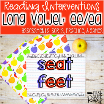 Long e ee and ea Assessments Practice Interventions and Games