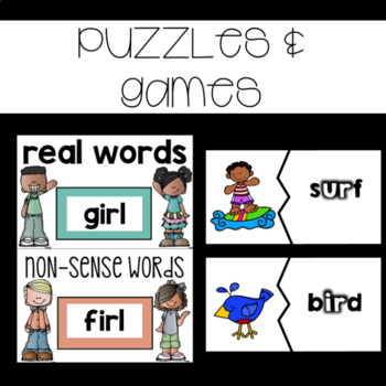 Reading Interventions: R-Controlled Vowels~ Assessments, Practice, and Games
