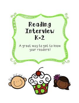 Reading Interview - K-2