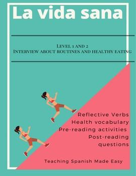 Freebie-Reflexives verbs & habits of teens 3 Activities-Reading -Interview
