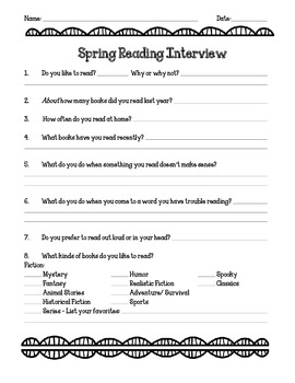 Reading Interview for Fall and Spring