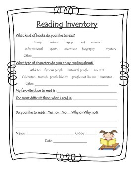 photograph about Printable Informal Reading Inventory called Casual Reading through Stock Worksheets Instruction Components TpT