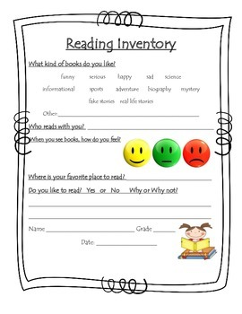 Reading Inventory - Early Primary