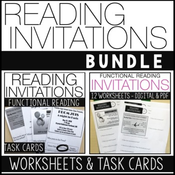 Reading Invitations Bundle Functional Reading Skills Special Ed