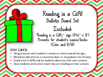 Reading Is A Gift Bulletin Board Set Library Gifts By Pray