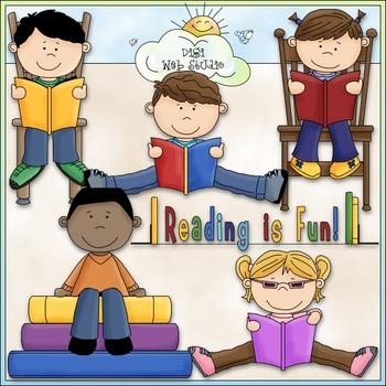 Reading Is Fun 1 - Commercial Use Clip Art & Black & White Images