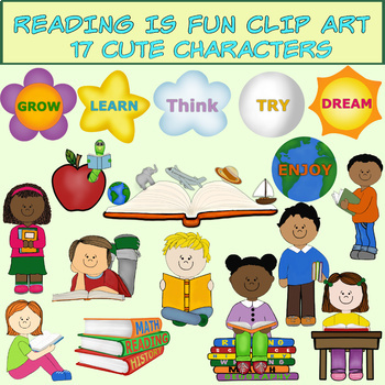 Clip Art Reading Is Fun