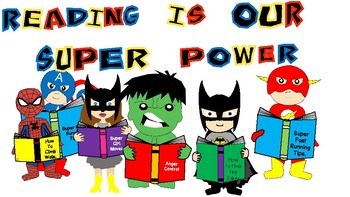 Reading Is Our Super Power Display