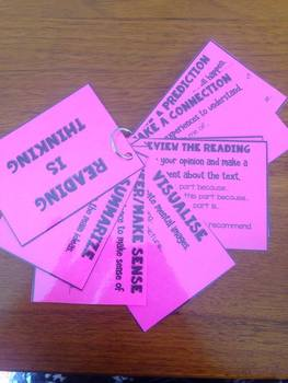 Reading Is Thinking Cards for Reader's Workshop.