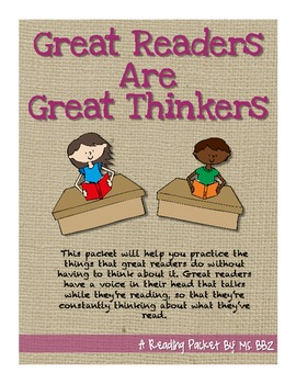Reading Is Thinking: Reading Strategies of Great Readers {Common Core Aligned}