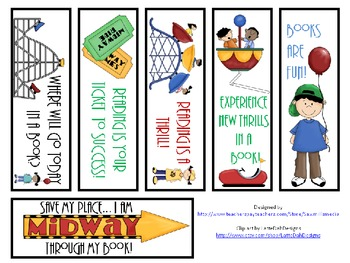 Reading Is a Thrill! - Reading Materials for a Carnival/Amusement Park Theme