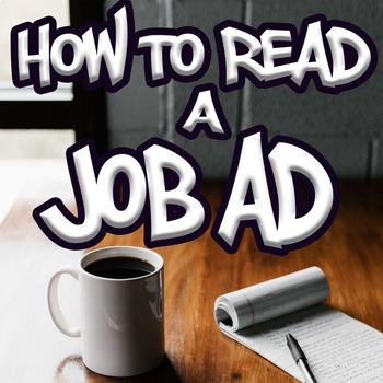 Reading Job Advertisements - Special Education High School (Print/Google)