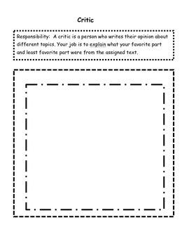 Reading Jobs: Literature Circle Assignments