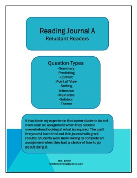 Reading Journal A: Reluctant Reader