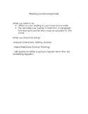 Reading Journal Assignment Handout