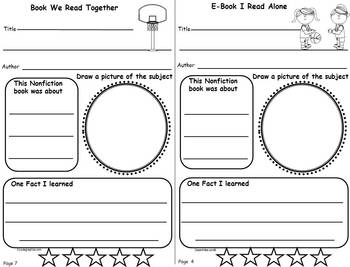 Reading Journal Booklets for March