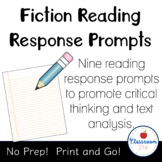 Reading Journal Bookmarks with Writing Prompts