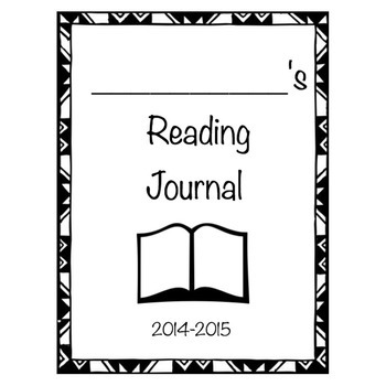 Reading Journal Cover- Freebie!